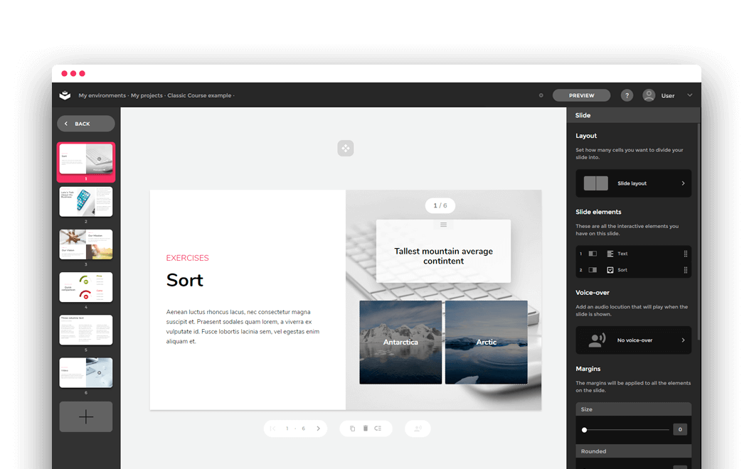 A clean and simple interface for easy editing without technical knowledge